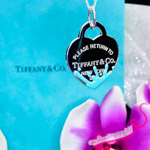 NWOT Tiffany Blue Color Splash Heart Charm Pendant